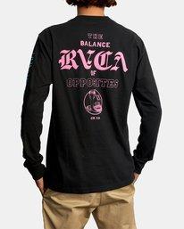 3 Cobra University Long Sleeve Tee Black AVYZT00584 RVCA