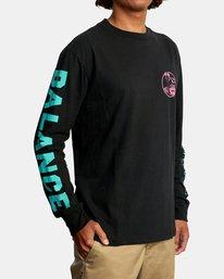 7 Cobra University Long Sleeve Tee Black AVYZT00584 RVCA
