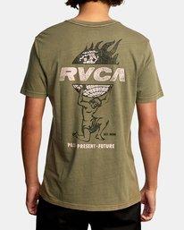 3 Atlas Short Sleeve Tee Green AVYZT00588 RVCA