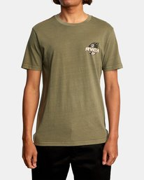 2 Atlas Short Sleeve Tee Green AVYZT00588 RVCA