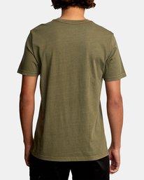 3 Double Major Short Sleeve Tee Green AVYZT00589 RVCA