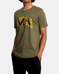 5 Double Major Short Sleeve Tee Green AVYZT00589 RVCA