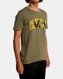 6 Double Major Short Sleeve Tee Green AVYZT00589 RVCA