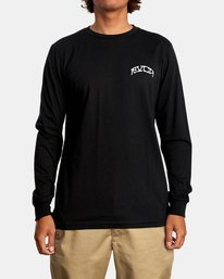 2 Kevin Ancell | St. Margret Long Sleeve Tee Black AVYZT00596 RVCA