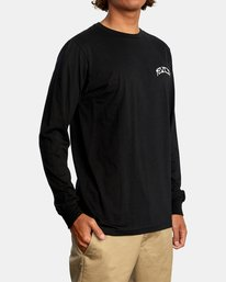 6 Kevin Ancell | St. Margret Long Sleeve Tee Black AVYZT00596 RVCA