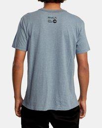 3 Ben Horton | Raven Short Sleeve Tee Grey AVYZT00625 RVCA