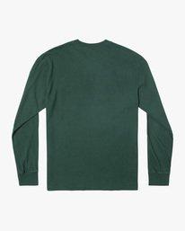 1 Solo Label Long Sleeve Tee Green AVYZT00645 RVCA