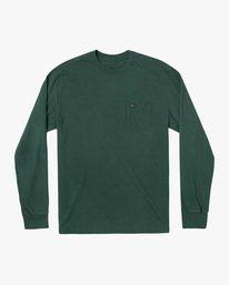0 Solo Label Long Sleeve Tee Green AVYZT00645 RVCA