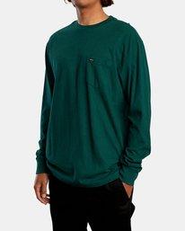 5 Solo Label Long Sleeve Tee Green AVYZT00645 RVCA