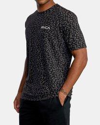 3 Matt Leines | VA Sport Leines Bolt Allover Workout Shirt Black AVYZT00669 RVCA