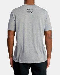 3 Matt Leines | VA Sport Leines Banner Workout Shirt Grey AVYZT00670 RVCA