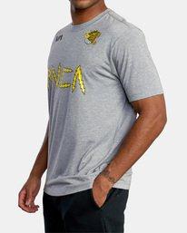 5 Matt Leines | VA Sport Leines Banner Workout Shirt Grey AVYZT00670 RVCA