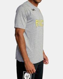 6 Matt Leines | VA Sport Leines Banner Workout Shirt Grey AVYZT00670 RVCA
