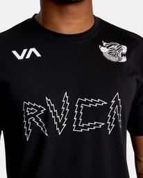 4 Matt Leines | VA Sport Leines Banner Workout Shirt Black AVYZT00670 RVCA