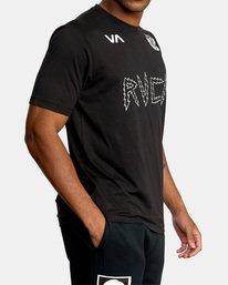 6 Matt Leines | VA Sport Leines Banner Workout Shirt Black AVYZT00670 RVCA
