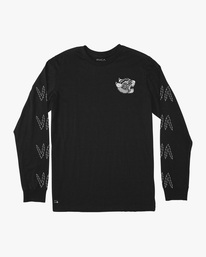 0 Matt Leines | VA Sport Leines Banner Long Sleeve Workout Shirt Black AVYZT00671 RVCA