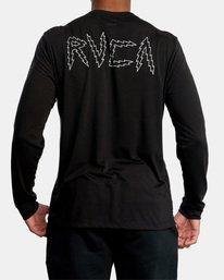 3 Matt Leines | VA Sport Leines Banner Long Sleeve Workout Shirt Black AVYZT00671 RVCA