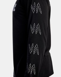 7 Matt Leines | VA Sport Leines Banner Long Sleeve Workout Shirt Black AVYZT00671 RVCA