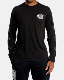 2 Matt Leines | VA Sport Leines Banner Long Sleeve Workout Shirt Black AVYZT00671 RVCA