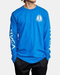 2 Gary Turner Long Sleeve T-Shirt Blue AVYZT00693 RVCA
