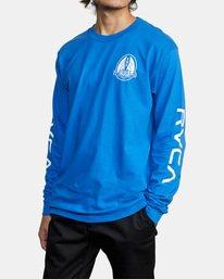 5 Gary Turner Long Sleeve T-Shirt Blue AVYZT00693 RVCA