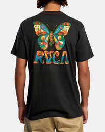 3 Melissa Grisancich   Mel G Butterfly Short Sleeve Tee Black AVYZT00694 RVCA