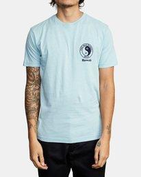 2 RVCA Town Country Short Sleeve T-Shirt Blue AVYZT00697 RVCA