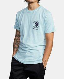 5 RVCA Town Country Short Sleeve T-Shirt Blue AVYZT00697 RVCA