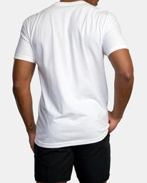 2 Gym Lay Workout Shirt White AVYZT00834 RVCA