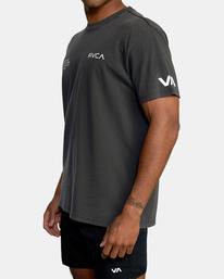 5 Big Pin Workout Shirt Black AVYZT00838 RVCA