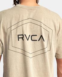6 Big Pin Workout Shirt Grey AVYZT00838 RVCA