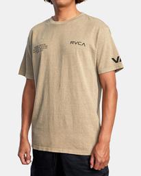 3 Big Pin Workout Shirt Grey AVYZT00838 RVCA