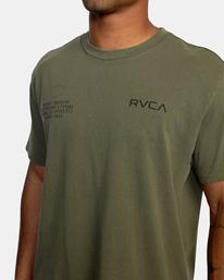 2 Big Pin Workout Shirt Green AVYZT00838 RVCA