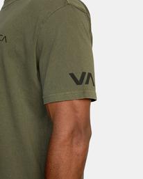 9 Big Pin Workout Shirt Green AVYZT00838 RVCA
