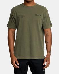 0 Big Pin Workout Shirt Green AVYZT00838 RVCA