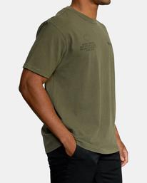 4 Big Pin Workout Shirt Green AVYZT00838 RVCA