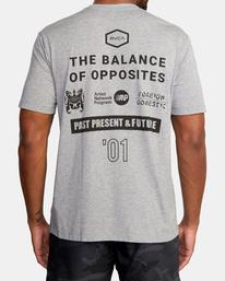 3 All Brand Short Sleeve Workout Shirt Grey AVYZT00840 RVCA