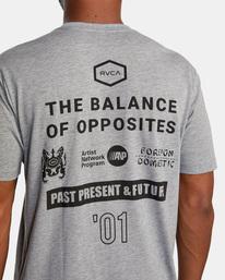 7 All Brand Short Sleeve Workout Shirt Grey AVYZT00840 RVCA