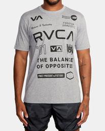 2 All Brand Short Sleeve Workout Shirt Grey AVYZT00840 RVCA