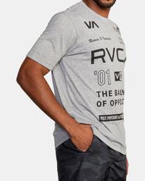 6 All Brand Short Sleeve Workout Shirt Grey AVYZT00840 RVCA