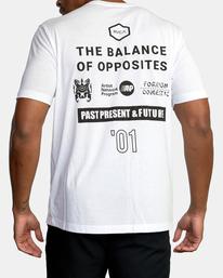 3 All Brand Short Sleeve Workout Shirt White AVYZT00840 RVCA