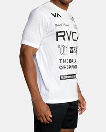 6 All Brand Short Sleeve Workout Shirt White AVYZT00840 RVCA
