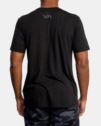 1 VA Sport | Double Major Workout Shirt Black AVYZT00842 RVCA