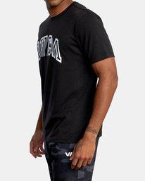 3 VA Sport | Double Major Workout Shirt Black AVYZT00842 RVCA