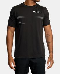 2 VA Sport | Pix Bar Workout Shirt Black AVYZT00843 RVCA