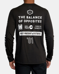 3 All Brand Long Sleeve Workout Shirt Black AVYZT00844 RVCA