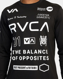 4 All Brand Long Sleeve Workout Shirt Black AVYZT00844 RVCA