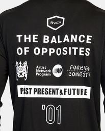 9 All Brand Long Sleeve Workout Shirt Black AVYZT00844 RVCA