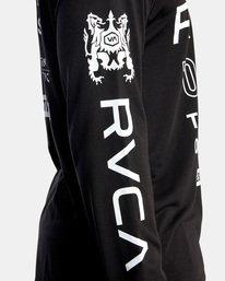 11 All Brand Long Sleeve Workout Shirt Black AVYZT00844 RVCA