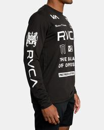 6 All Brand Long Sleeve Workout Shirt Black AVYZT00844 RVCA